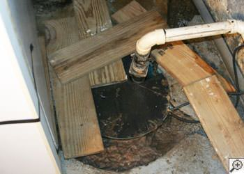 An ugly, clogged sump pump system in Meadow Lake, Saskatchewan