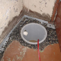 Installing a sump in a sump pump liner in a Moose Jaw home