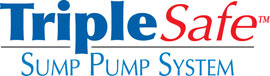 Sump pump system logo for our TripleSafe™, available in areas like Prud'homme